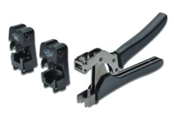 Digitus Crimping Tool Set with tool heads 2 x DN-94018 for DN-93604 & DN-93615