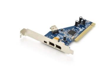 Digitus IEEE 1394a PCI přídavná karta 2x6pinový + 1x4pinový externí, 1x6pinový Intern, TSB43AB23IEEE 1394a PCI přídavná karta 2x6p