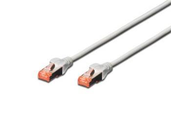 Digitus CAT 6 S-FTP patch cable, Cu, LSZH AWG 27/7, length 25 m, color grey