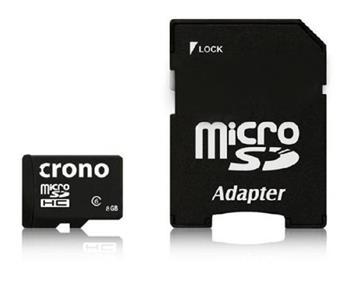 Crono micro Secure Digital HC (microSDHC) karta 8GB Class 6 + adaptér