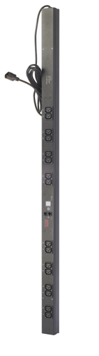 APC Rack PDU, Metered, Zero U, 10A, C14 ->(16) C13