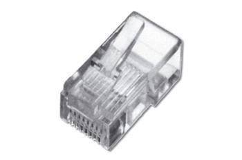 Digitus Modulární zástrčka, pro plochý kabel, nestíněná 6P6C, DIP, 6 µ zlatá
