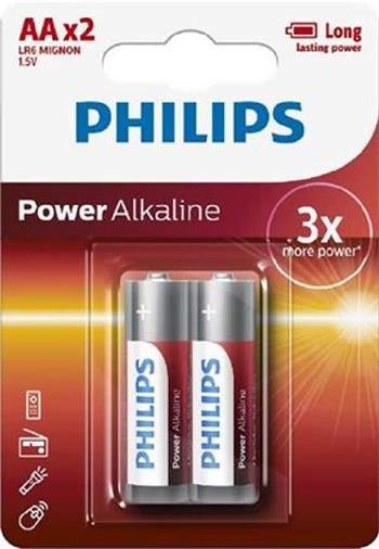 Philips baterie AA Power Alkaline, alkalická - 2ks