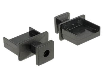 Delock Prachová záslepka pro USB Type-A samice s uchopením 10 kusů černá