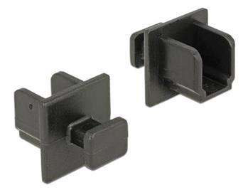 Delock Prachová záslepka pro USB 3.0 Type-B samice s uchopením 10 kusů černá
