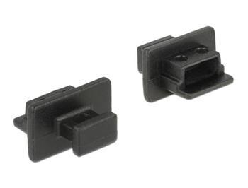 Delock Prachová záslepka pro USB 2.0 Type Mini-B samice s uchopením 10 kusů černá