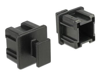 Delock Prachová záslepka pro Mini SAS HD SFF 8644 samice s uchopením 10 kusů černá