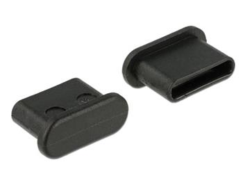 Delock Prachová záslepka pro USB Type-C™ samice bez uchopení 10 kusů černá
