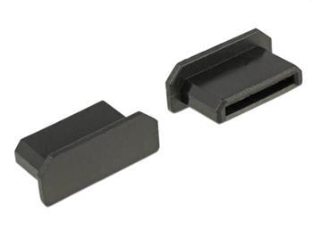 Delock Prachová záslepka pro HDMI mini-C samice bez sevření 10 kusů černá