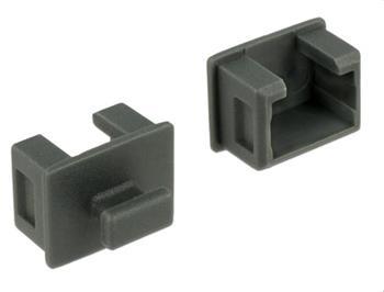 Delock Prachová záslepka pro Fire Wire 1394A 6 pin samice s uchopením 10 kusů šedá