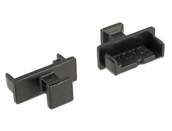 Delock Prachová záslepka pro SATA 7 pin samec s uchopením 10 kusů černá
