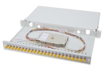 DIGITUS Professional Fiber Optic Splice Box, Equipped, ST, OS2