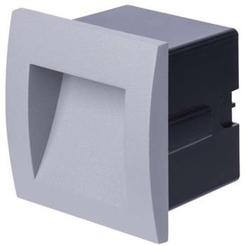 Emos orientační vestavné LED svítidlo 90x90, 1W, 25 lm, WW teplá bílá, IP65