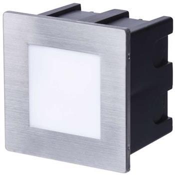 Emos orientační vestavné LED svítidlo 80x80, 1.5W, 75 lm, WW teplá bílá, IP65