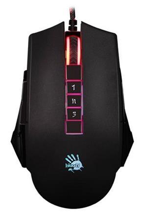 A4tech BLOODY P85, herní myš, 5000DPI, USB, černá, 5 módů podsvícení