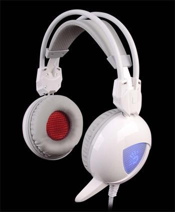 A4tech Bloody G310, herní sluchátka, bílé, USB, 2x 3,5mm jack
