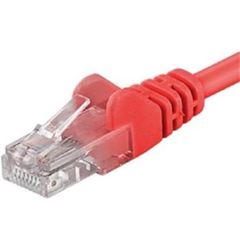 PremiumCord Patch kabel UTP RJ45-RJ45 CAT6 0.25m červená