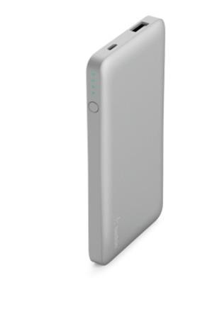 Belkin kapesní powerbanka 5000mAh, 1xUSB + microUSB kabel - stříbrná