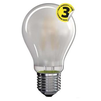 Emos LED žárovka Classic A60, 8.5W/75W E27, WW teplá bílá, 1060 lm, Filament matná A++