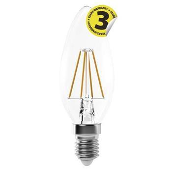 Emos LED žárovka CANDLE, 4W/40W E14, NW neutrální bílá, 465 lm, Filament A++