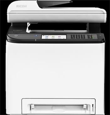 RICOH SP C262SFNw 20 PPM, Color MFC with print, copy, scan, fax, touchscreen display, 256 MB, LAN, Wi-Fi