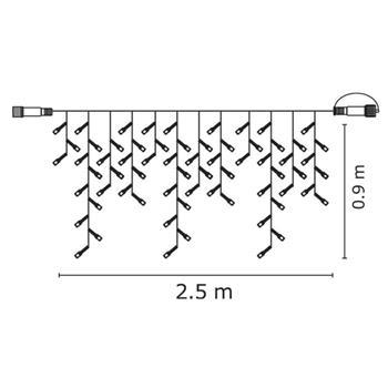 Emos CS-6 spojovací řetěz 100 LED - krápníky, CW studená bílá, 2.5m