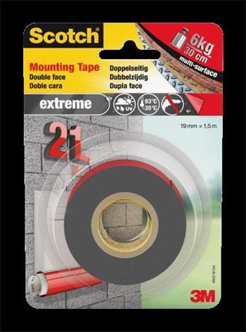 3M Scotch Extreme Mounting Tape 40021915C 19mm x 1,5m