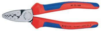 Knipex 97 72 180 - krimpovací kleště 180mm, 0.25-16 mm2