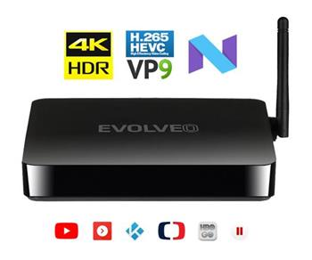 EVOLVEO MultiMedia Box M4, Quad Core multimediální centrum, 4K,HDR,HDMI,android 7.1, wifi