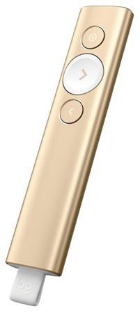Logitech prezentér Spotlight Plus, 3D akcelerometr a gyroskop, zlatý