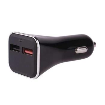 Emos napájecí zdroj USB CL 12/24V QuickCharge3.0, 3A (28.5W), 2x USB, do auta