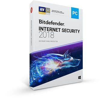 Bitdefender Internet Security 2018 1 uživatel na 2 roky