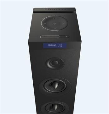 ENERGY Tower 8 G2 Black, audio systém 2.1, 120W, Bluetooth, USB, microSD, 3.5mm vstup, FM rádio, dotykový panel