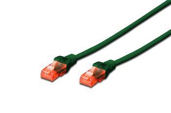 Digitus CAT 6 U-UTP patch cable, Cu, LSZH AWG 26/7, length 3 m, color green