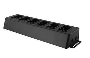 Transcend TS-DPD6N dokovací stanice pro osobní kameru DrivePro Body 30, 6 portů, USB 3.0, 1x LAN, 1x WAN, černá