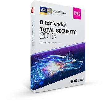 Bitdefender Total Security 2018 5 zařízení na 3 roky