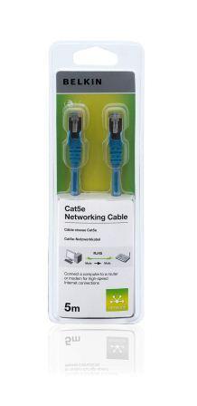 Belkin kabel CAT5e RJ45 datový modrý, 5m