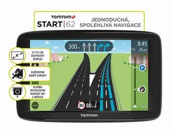 "TomTom VIA 62 Europe, LIFETIME mapy, 6"" displej"