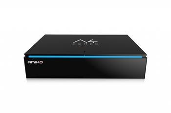 AMIKO DVB-S2/T2/C combo přijímač A4/ 4K Ultra HD/ H.265/HEVC/ čtečka micro SD/ HDMI/ USB/ LAN/ Wi-Fi/ Android 6.1
