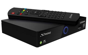 STRONG android box SRT 2401/ 4K Ultra HD/ DVB-S2/T2/C/ H.264/HEVC/ HDMI/ 2x USB/ BT/ LAN/ W-Fi/ Android 7.1/ černý