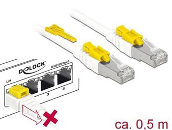 Delock Kabel RJ45 Secure Cat.6A 0,5 m