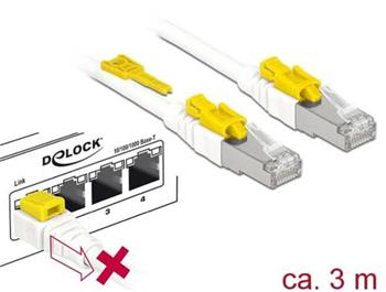 Delock Kabel RJ45 Secure Cat.6A 3 m