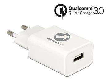 Navilock Napájecí zdroj 1 x USB typ A s Qualcomm® Quick Charge™ 3.0 černý