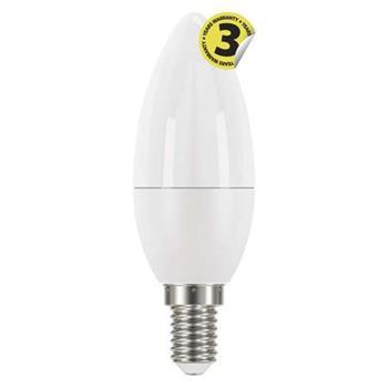 Emos LED žárovka CANDLE, 6W/40W E14, CW studená bílá, 470 lm, Classic A+