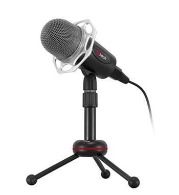 C-TECH Stolní mikrofon MIC-03, 3,5mm stereo jack, kabel 2.5m