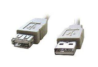 Kabel C-TECH USB A-A 1,8m 2.0 prodlužovací, černý