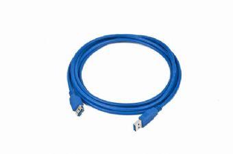 Kabel C-TECH USB A-A 3m 2.0 prodlužovací, černý