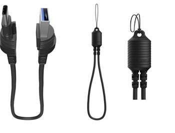 Lifeproof USB-A / USB-C kabel ve formě poutka - černý