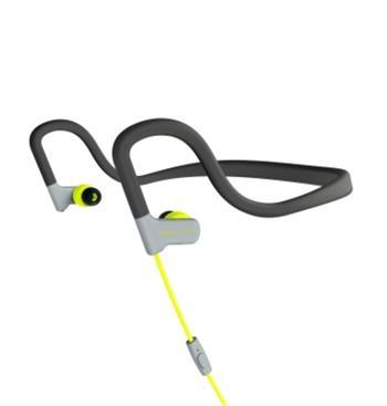 ENERGY Earphones Sport 2 Yellow, sportovní sluchátka s mikrofonem, 3,5mm jack, 93dB ± 3dB