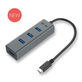 i-Tec USB-C 3.1 Metal 4-portový HUB, 4x USB 3.0